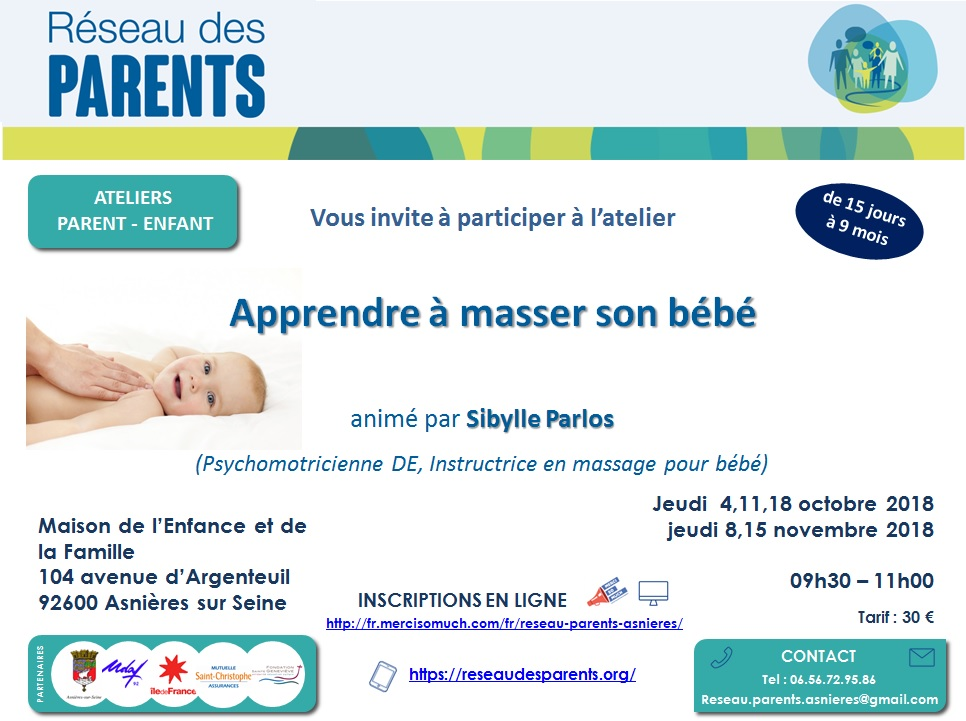 Flyer massage bébé